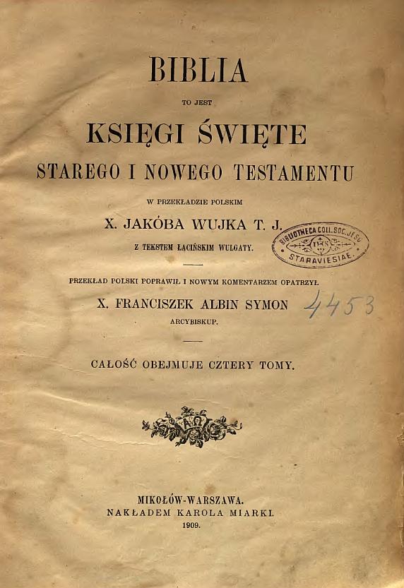 Bibliepolskiepl Tłumaczenia Ksiąg Biblijnych Na Język Polski